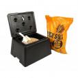 Mini 30 Litre Grit Bin with 25kg Salt, Scoop and Lock