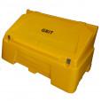 400 Litre Lockable Grit Bin - Yellow