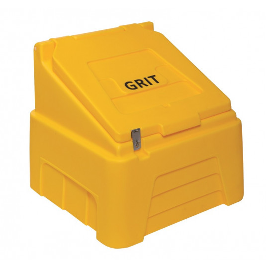 200 Litre Lockable Grit Bin - Yellow