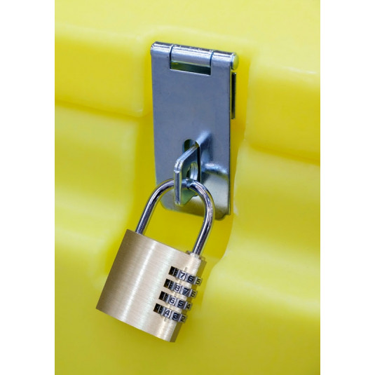 Brass Combination Padlock 40mm Front View