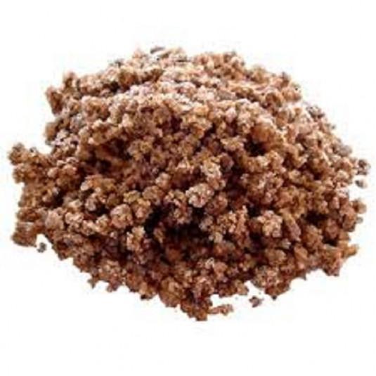 Bulk bag of brown rock salt