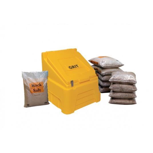 200 Litre Lockable Bin & Salt Package - Includes 10 Bags of Winter Salt