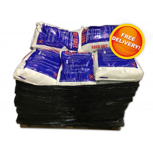 White De-Icing Salt - 42 x Bags (25kg each)
