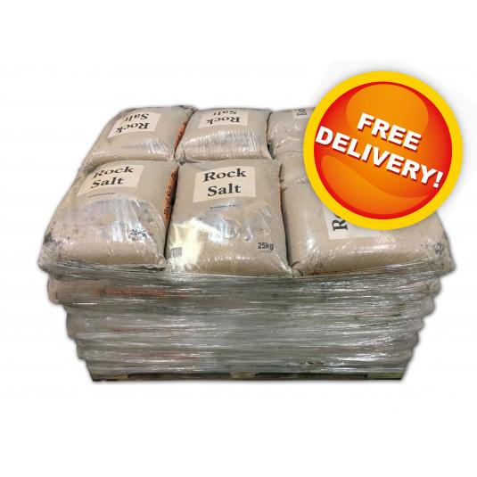Pallet of Brown Rock Salt - Free Delivery