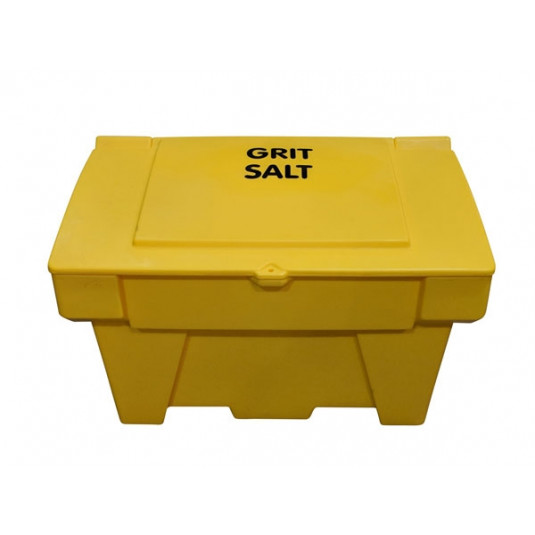 200 Litre Lockable Stackable Grit Bin - Yellow