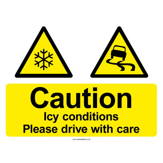Drive with Care Sign - 450mm x 600mm