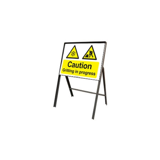 Winter Stanchion Sign