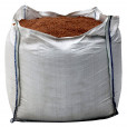 Bulk bag of brown rock salt