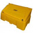 400 Litre Lockable Grit Bin - Yellow
