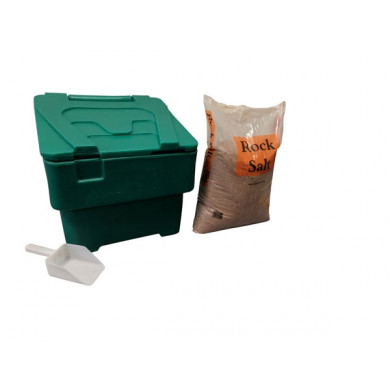 60 litre Household Bin 25kg Salt and Scoop - Green