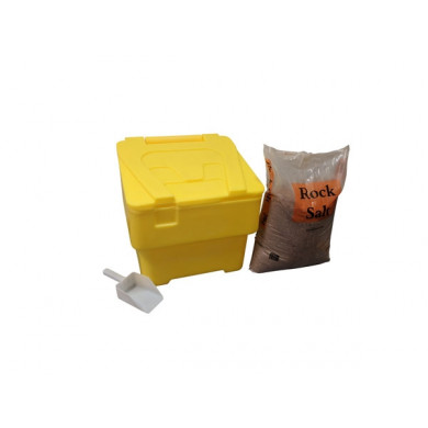 60 litre Household Bin 25kg Salt and Scoop  - Yellow