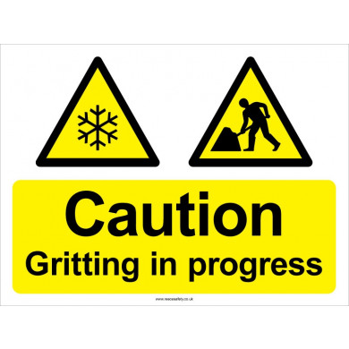 Gritting in Progress Sign - 450mm x 600mm