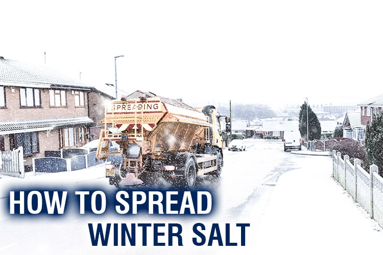 How to spread winter salt